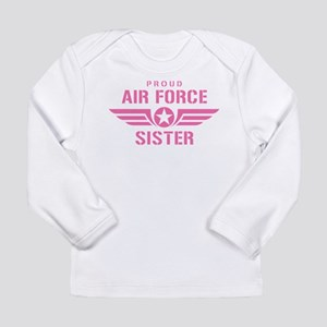Proud Air Force Sister W [pink] Long Sleeve Infant